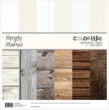 Simple Stories Color Vibe Cardstock Kit 12X12 - Woods