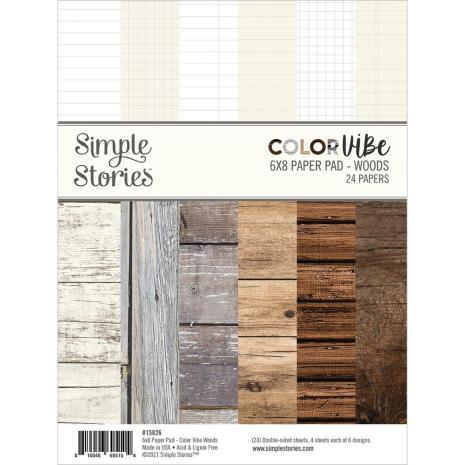 Simple Stories Double-Sided Paper Pad 6X8 - Color Vibe Woods