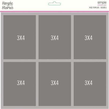 Simple Stories Simple Pages Page Template - Design 3