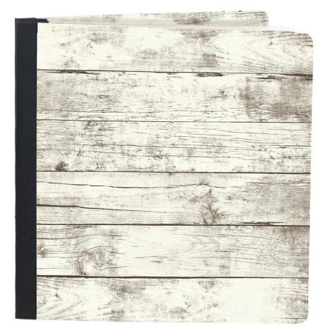 Simple Stories Snap Flipbook 6X8 - Whitewashed Wood