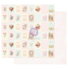 Prima Magic Love Cardstock 12X12 - Love Stamps