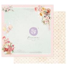 Prima Magic Love Cardstock 12X12 - On A Pink Cloud