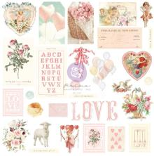 Prima Cardstock Ephemera 29/Pkg - Magic Love