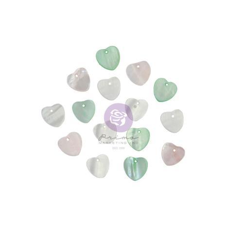 Prima Pearl Hearts 15/Pkg - Magic Love