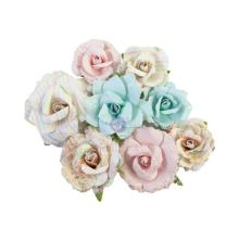 Prima Magic Love Mulberry Paper Flowers 8/Pkg - Stardust