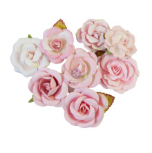 Prima Magic Love Mulberry Paper Flowers 8/Pkg - Pink Dreams