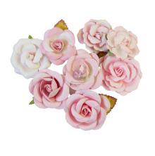 Prima Magic Love Mulberry Paper Flowers 8/Pkg - Pink Dreams