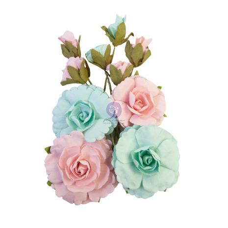 Prima Magic Love Mulberry Paper Flowers 10/Pkg - Forever