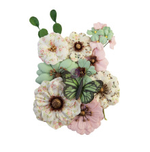 Prima My Sweet Mulberry Paper Flowers 12/Pkg - Sewn With Love