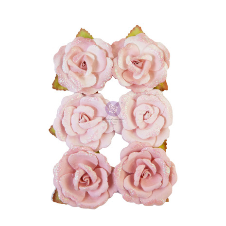 Prima My Sweet Mulberry Paper Flowers 6/Pkg - Stitched