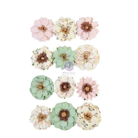 Prima My Sweet Mulberry Paper Flowers 12/Pkg - Sweetest