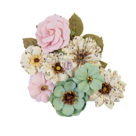 Prima My Sweet Mulberry Paper Flowers 12/Pkg - Sewn Together