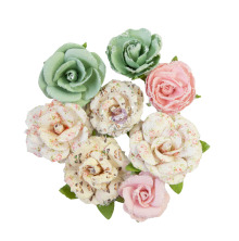 Prima My Sweet Mulberry Paper Flowers 8/Pkg - All For You