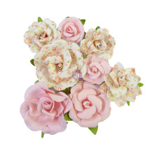 Prima My Sweet Mulberry Paper Flowers 8/Pkg - Friends Always