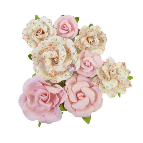 Prima My Sweet Mulberry Paper Flowers 8/Pkg - Friends Always