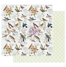 Prima Nature Lover Cardstock 12X12 - Where the birds meet