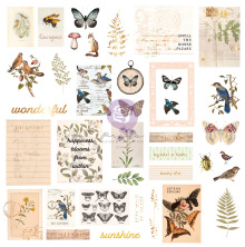 Prima Cardstock Ephemera 38/Pkg - Nature Lover Shapes