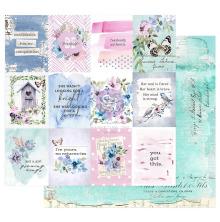 Prima Watercolor Floral Cardstock 12X12 - Dreamy Florals