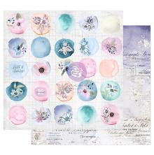 Prima Watercolor Floral Cardstock 12X12 - Watercolor Drops
