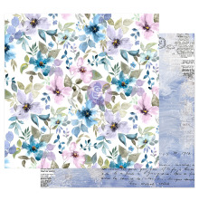 Prima Watercolor Floral Cardstock 12X12 - In The Water Garden