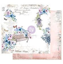 Prima Watercolor Floral Cardstock 12X12 - Watercolor Cards