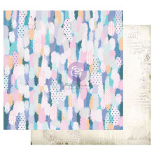 Prima Watercolor Floral Cardstock 12X12 - Artful Brushstrokes