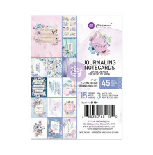 Prima Journaling Cards 3X4 45/Pkg - Watercolor Floral