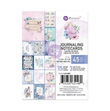Prima Journaling Cards 3X4 45/Pkg - Watercolor Floral