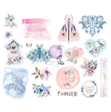 Prima Chipboard Stickers 20/Pkg - Watercolor Floral