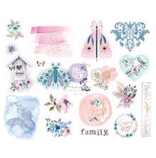 Prima Chipboard Stickers 20/Pkg - Watercolor Floral