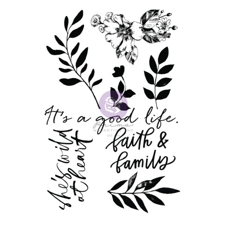 Prima Clear Stamps 8/Pkg - Watercolor Floral