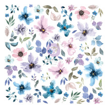 Prima Cardstock Ephemera 77/Pkg - Watercolor Floral #1