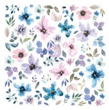 Prima Cardstock Ephemera 77/Pkg - Watercolor Floral #1
