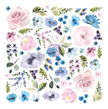 Prima Cardstock Ephemera 62/Pkg - Watercolor Floral #2