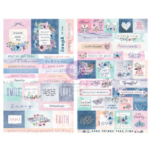 Prima Stickers 2/Sheets - Watercolor Floral
