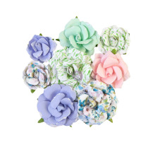 Prima Watercolor Floral Mulberry Paper Flowers 8/Pkg - Rose Gouache