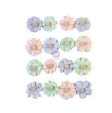 Prima Watercolor Floral Mulberry Paper Flowers 16/Pkg - Pretty Tints