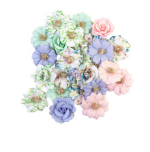 Prima Watercolor Floral Mulberry Paper Flowers 24/Pkg - Tiny Colors