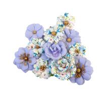 Prima Watercolor Floral Mulberry Paper Flowers 12/Pkg - Blank Canvas