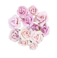 Prima Watercolor Floral Mulberry Paper Flowers 12/Pkg - Grey Pigment