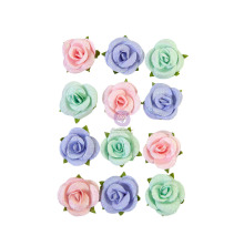 Prima Watercolor Floral Mulberry Paper Flowers 12/Pkg - Watercolor Sweet
