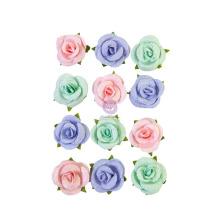 Prima Watercolor Floral Mulberry Paper Flowers 12/Pkg - Watercolor Sweet