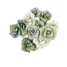 Prima Diamond Mulberry Paper Flowers 12/Pkg - Courage