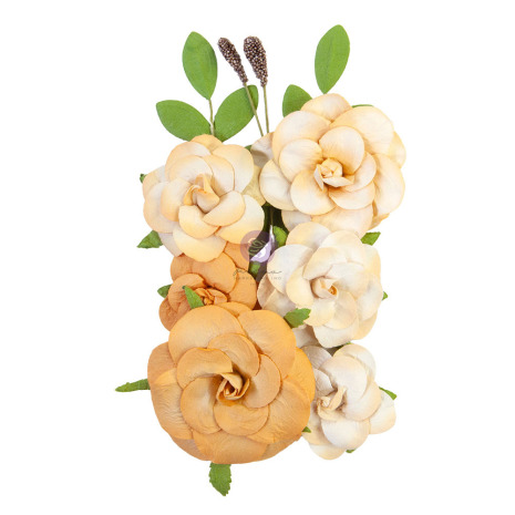 Prima Diamond Mulberry Paper Flowers 10/Pkg - Love Wins