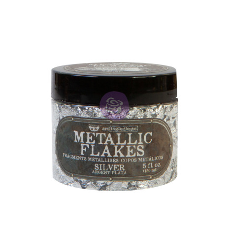 Prima Art Ingredients Metal Flakes 150ml - Silver