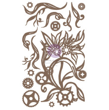 Prima Decorative Chipboard 14/Pkg - Steampunk Blooms