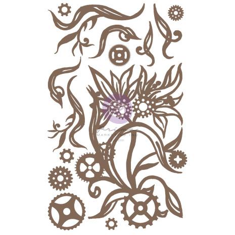 Prima Decorative Chipboard 14/Pkg - Steampunk Blooms