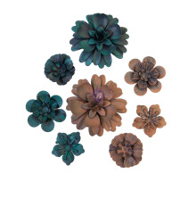 Prima Finnabair Metal Mechanicals 8/Pkg - Desert Flowers