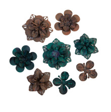 Prima Finnabair Metal Mechanicals 8/Pkg - Grungy Succulents