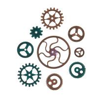 Prima Finnabair Metal Mechanicals 9/Pkg - Grungy Gears